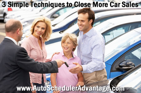 3 simple techniques to close more car sales